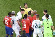 Argentina Vs Cile, Kartu Merah Messi Warnai Kemenangan Tim Tango