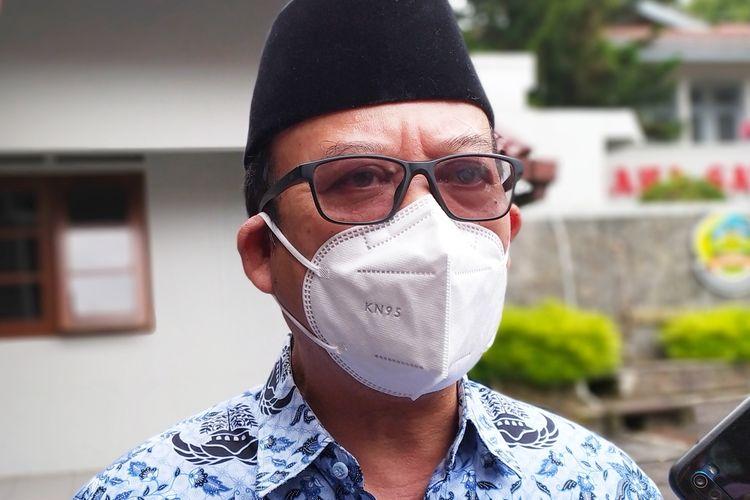 Bupati Banyumas Achmad Husein di kompleks Pendapa Sipanji Purwokerto, Kabupaten Banyumas, Jawa Tengah, Rabu (17/2/2021).