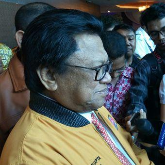 Ketua Umum Partai Hanura Oesman Sapta Odang (Oso) ketika ditemui di hotel Manhattan, Jakarta, Rabu (17/1/2018).