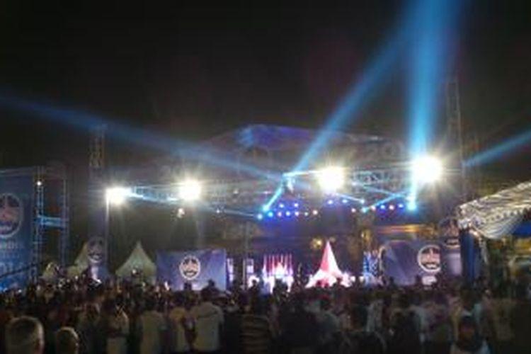 Suasana acara debat bernegara kandidat konvensi calon presiden Partai Demokrat, di Medan, Selasa (21/1/2014) malam.