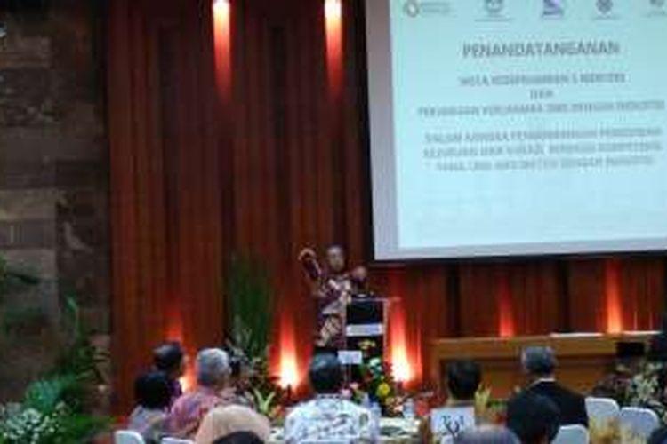 Menteri Koordinator Bidang PerekonomianDarmin Nasution di Kantor Kementerian Perindustrian, Jakarta, Selasa (29/11/2016).