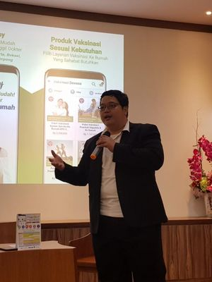 CEO aplikasi ProSehat, dr Bimantoro, Jakarta, Selasa (27/3/2018).