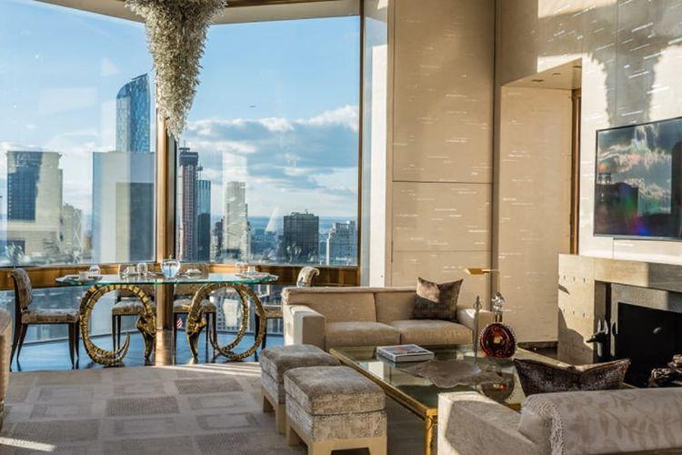 Salah satu desain kamar di Hotel Four Seasons New York.