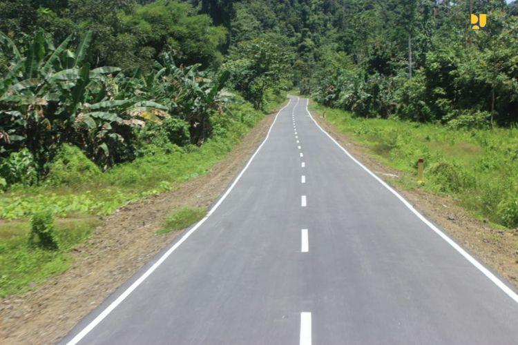 Jalan yang dibangun di Raja Ampat, Provinsi Papua Barat