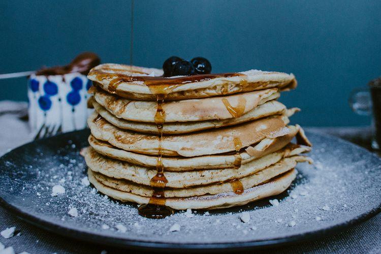 Pancake lembut seperti kue sponge menjadi teksture ideal pancake.