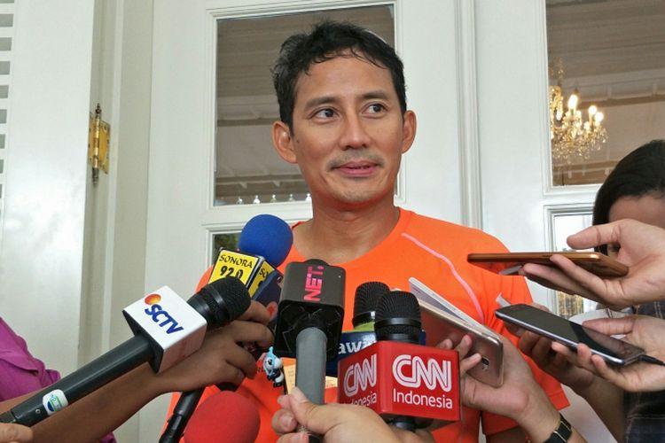 Wakil Gubernur DKI Jakarta Sandiaga Uno di Balai Kota DKI Jakarta, Jalan Medan Merdeka Selatan, Rabu (15/11/2017).