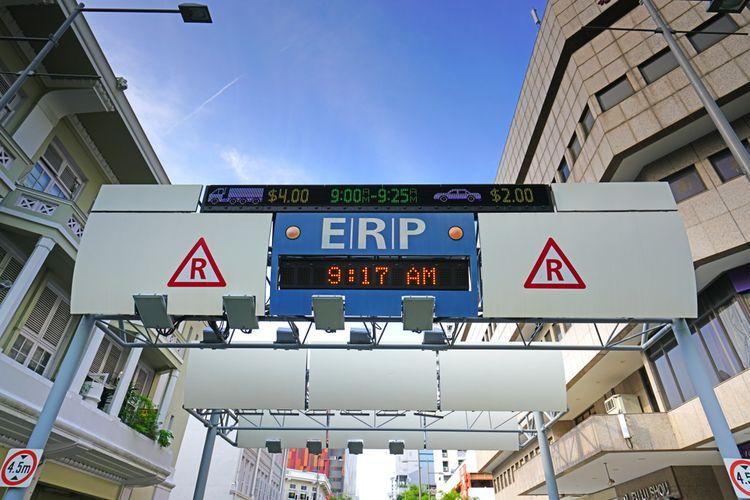 Ilustrasi SRP atau jalan berbayar
