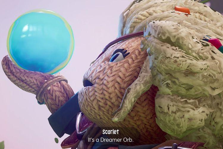 Karakter NPC Scarlet yang menjelaskan tentang Dreamer Orb.