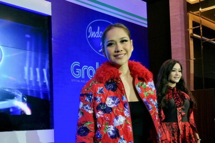 Penyanyi Bunga Citra Lestari dalam jumpa pers Indonesian Idol season 9 di MNC Studios, Kebon Jeruk, Jakarta Barat, Selasa (13/12/2017).