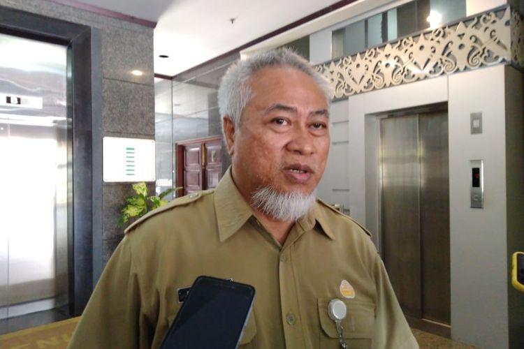 Direktur RSUD Kanujoso, Edy Iskandar saat ditemui Kompas.com di Kantor Gubernur Kaltim, Samarinda, Senin (23/3/2020).