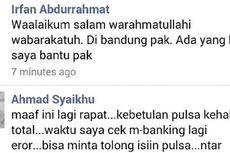 Akun Facebook Wakil Wali Kota Bekasi Dibajak untuk Minta Pulsa