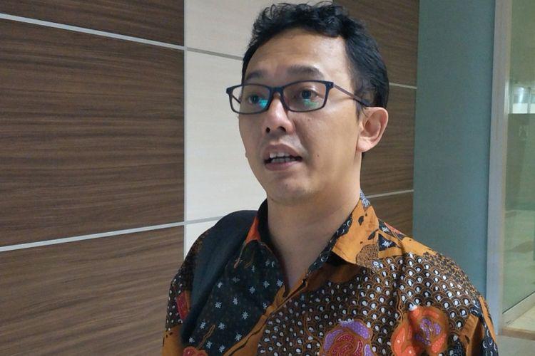 Komisioner Komnas HAM Beka Ulung Hapsara saat ditemui di Kompleks Parlemen, Senayan Jakarta, Senin (19/3/2018).