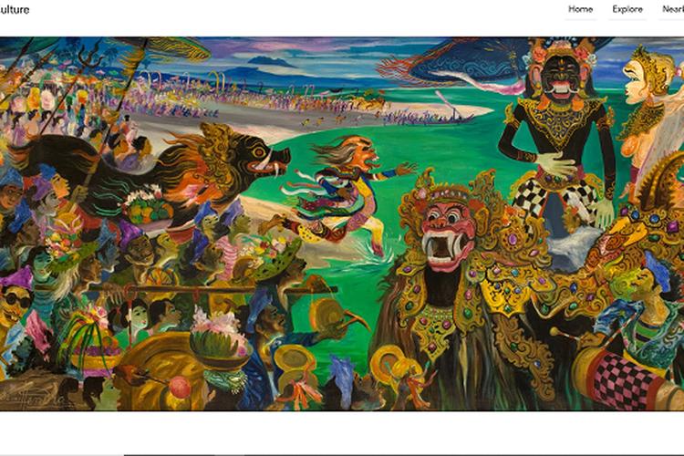 Tangkapan layar lukisan Hendra Gunawan di tur virtual museum Ciputra Artpreneur, Selasa (7/4/2020).