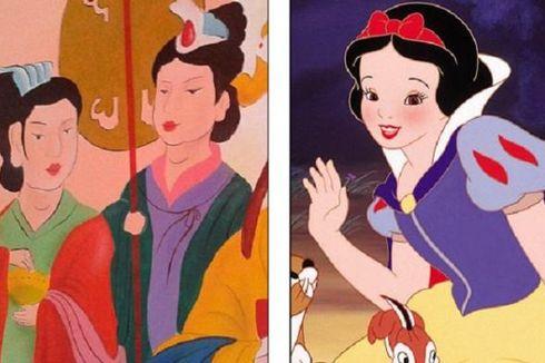 Dikritik... Kuil China Ganti Lukisan Kuno dengan Kartun Disney!