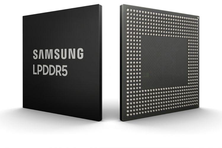 Ilustrasi RAM LPDDR5 Samsung.