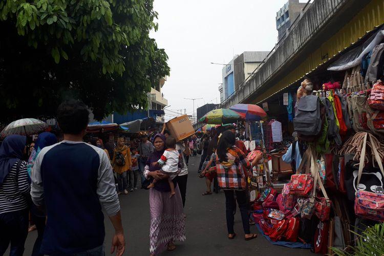 Suasana pasar asemka, Kamis (28/6/2018)