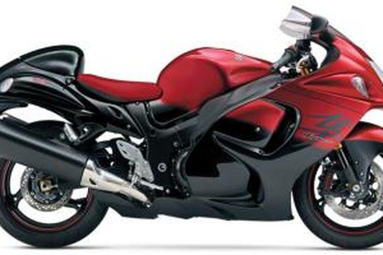 Suzuki Hayabusa edisi spesial dengan nuansa warna kombinasi hitam dan merah.