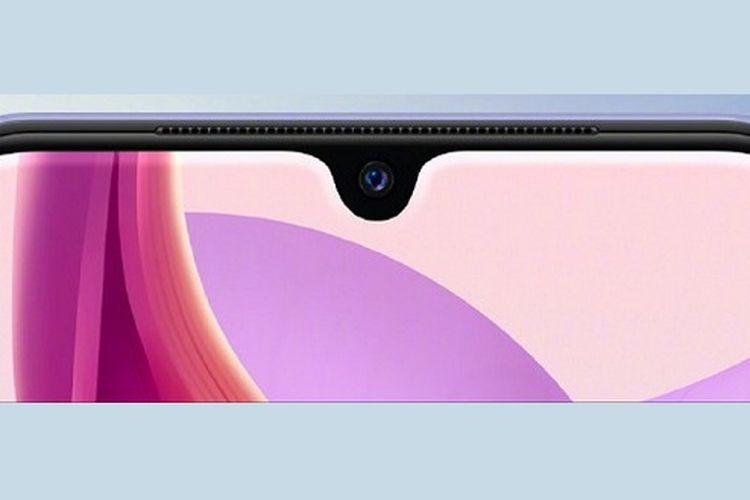 Kamera depan Vivo S9e 5G dalam rumah berbentuk water drop.
