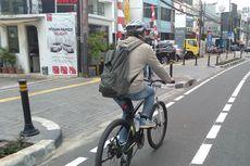 Hari Ini, Uji Coba Jalur Sepeda Rute Tomang Raya-Jatinegara Dimulai