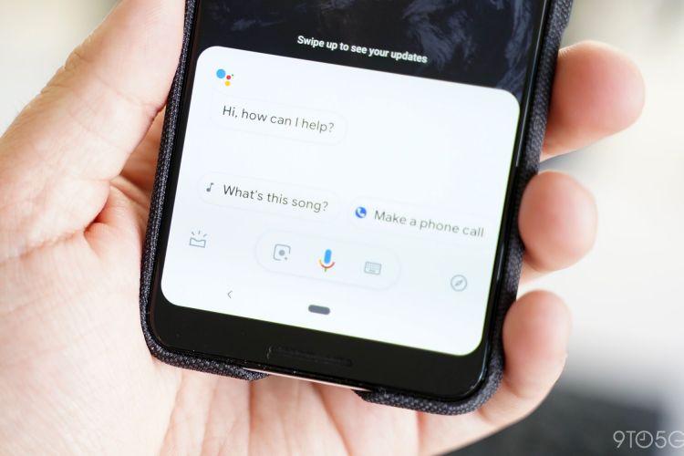 Ilustrasi tampilan Google Assistant