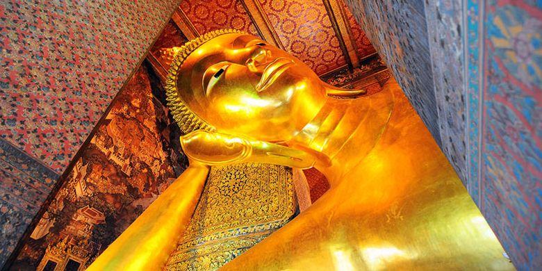 Kuil Wat Pho di Bangkok, Thailand.