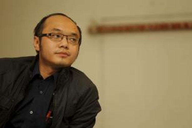 Pengamat Charta Politika Yunarto Widjaja di Jakarta Media Center, Gedung Dewan Pers, Jakarta, Selasa (6/3/2012).