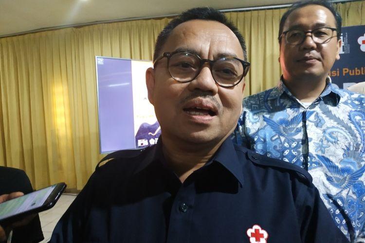 Sekjen PMI Sudirman Said di Universitas Paramadina, Jakarta Selatan, Kamis (5/3/2020).