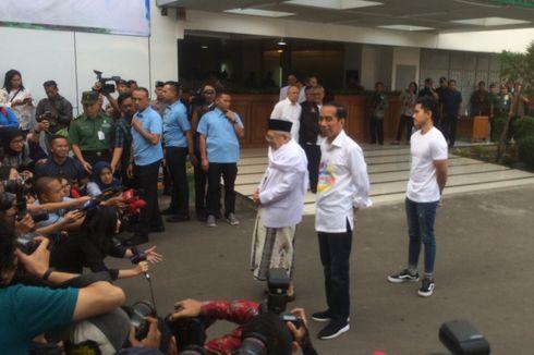 Tes Kesehatan, Jokowi dan Ma'ruf Amin Ditemani Anak-anaknya
