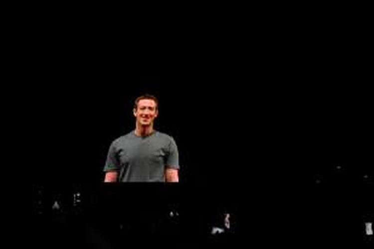 Pendiri dan CEO Facebook Mark Zuckerberg mendadak muncul di acara peluncuran