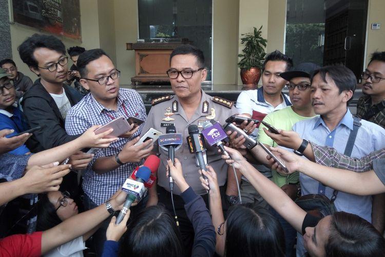 Kabid Humas Polda Metro Jaya Kombes Argo Yuwono di Mapolda Metro Jaya, Rabu (2/8/2017).