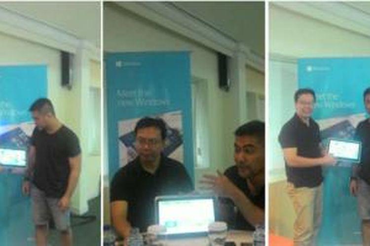 Business Group Head, Windows Division, Microsoft Indonesia, Lucky Gani dan Technical Evangelist Microsoft Indonesia, Norman Sasono