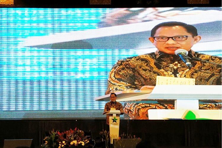 Mendagri Tito Karnavian di Hotel Bidakara, Jakarta Selatan, Selasa (25/2/2020).
