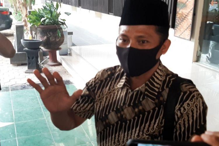 Wakil Ketua DPRD Kota Tegal Wasmad Edi Susilo (WES) ditemui usai pemeriksaan sebagai tersangka oleh tim penyidik Ditreskrimum Polda Jawa Tengah pada Rabu (30/9/2020).