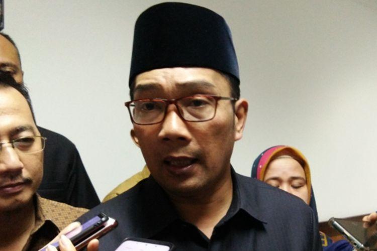Gubernur Jawa Barat Ridwan Kamil saat ditemui di Gedung DPRD Jabar, Jalan Diponegoro, Senin (26/8/2019).