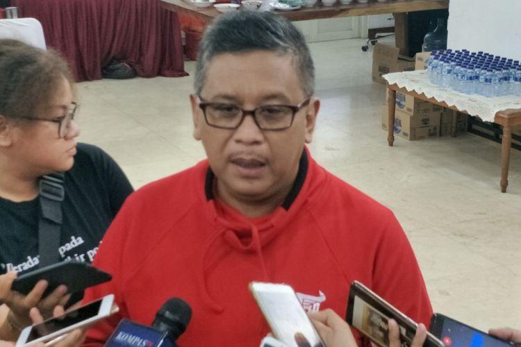 Sekjen Partai Demokrasi Indonesia Perjuangan (PDI-P) Hasto Kristiyanto saat ditemui di kantor DPP PDI-P, Menteng, Jakarta Pusat, Selasa (18/12/2018).