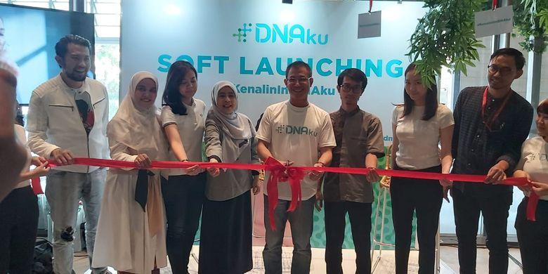 Peluncuran layanan DNAku di Jakarta, Kamis (15/8/2019).