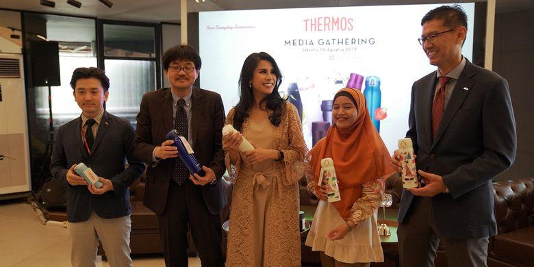 Media gathering dan peluncuran tumbler Thermos di Jakarta (6/8/2019).