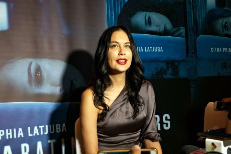 Artis peran Sophia Latjuba dalam jumpa pers Peluncuran Teaser dan Trailer Film Mata Batin 2 di kantor Soraya Intercine Films, Menteng, Jakarta Pusat, Selasa (4/12/2018).