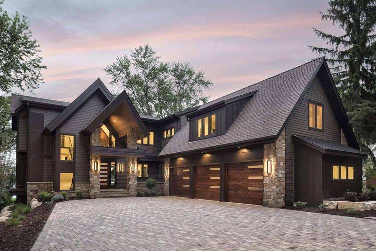 Rumah pedesaan modern.