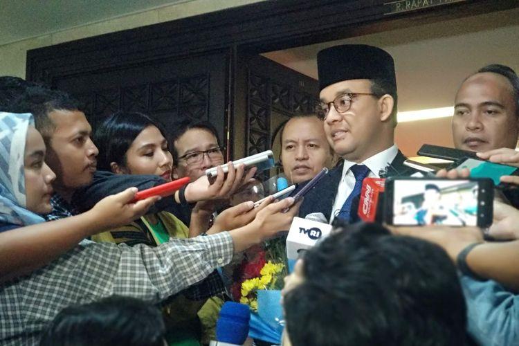 Gubernur DKI Jakarta Anies Baswedan di DPRD DKI Jakarta, Rabu (15/5/2019).