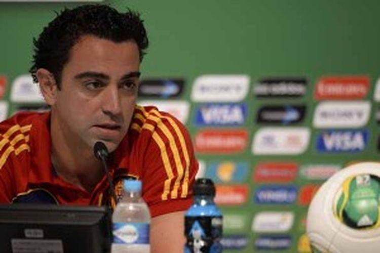 Gelandang Spanyol, Xavi Hernandez