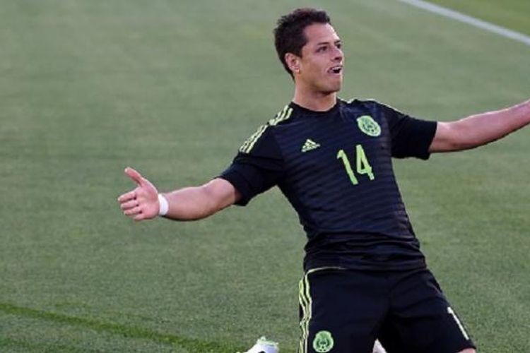 Striker tim nasional Meksiko, Javier Chicharito Hernandez.