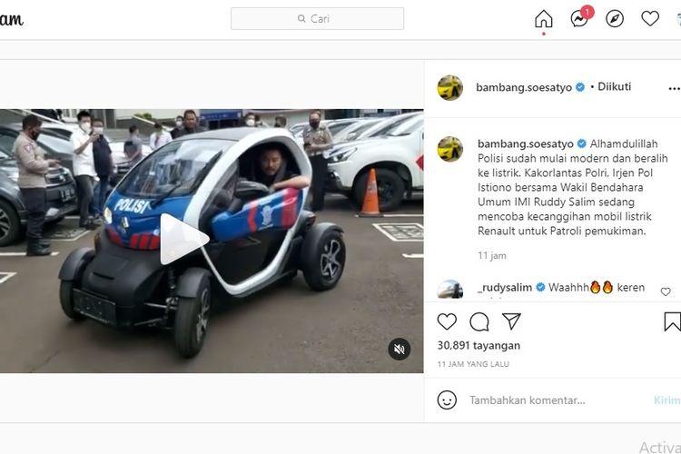 Renault Twizy mulai dipakai kepolisian.