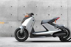 Skuter Listrik BMW CE 04 yang Futuristik Tampil Sedikit Retro