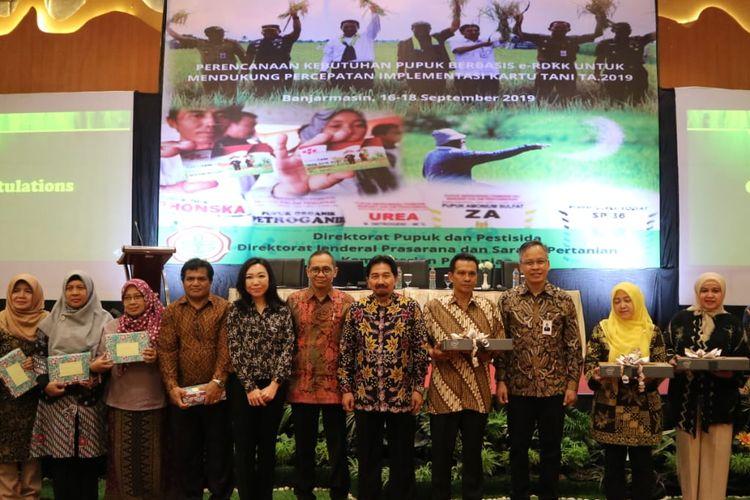 Kementerian Pertanian menggelar pertemuan Perencanaan Kebutuhan Pupuk Berbasis e-RDKK untuk Mendukung Percepatan Implementasi Kartu Tani