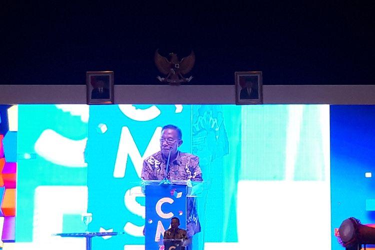 Menteri Koordinator Bidang Perekonimian Darmin Nasution di acara Capital Market Summit & Expo (CMSE) 2019 di JCC, Senayan, Jakarta, Jumat (23/8/2019).
