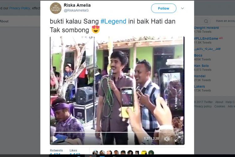 Video viral Duta Mojo vokalis Sheila on 7 yang menyanyi di acara pernihakahan sederhana.