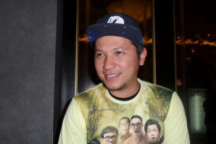 Gading Marten ketika menghadiri pemutaran film Hangout di The Prohibition, di Plaza Senayan Arcadia, Jakarta Pusat, Kamis (15/12/2016).