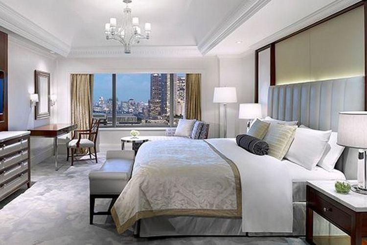 Kamar di Hotel Shangri-La Jakarta.