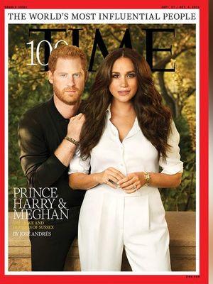 Pangeran Harry dan Meghan Markle di sampul Majalah Time